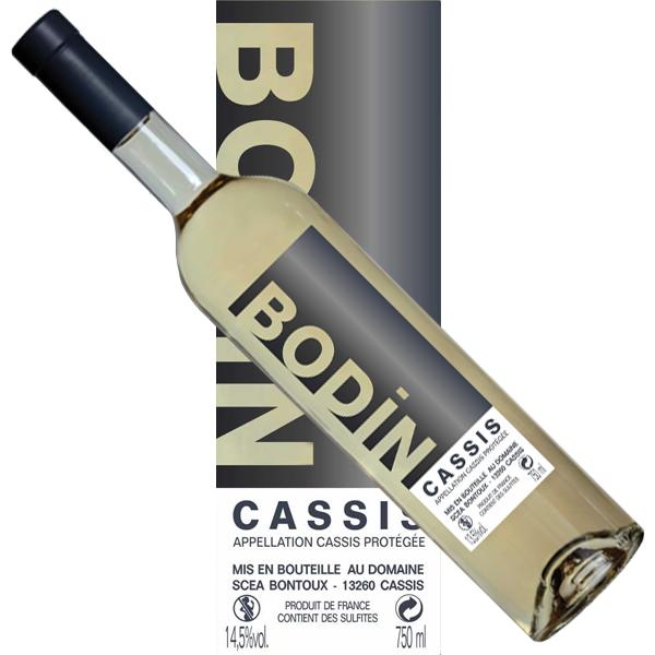 Vin Cassis blanc Bodin notre dame des lumières étiquette moderne