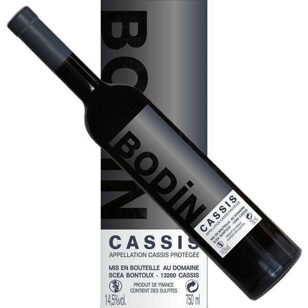 Vin Cassis rouge Bodin étiquette moderne