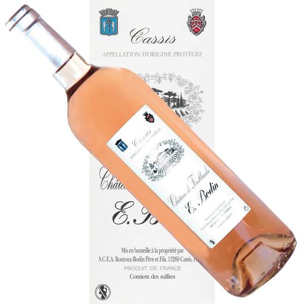 Vin Cassis rosé Bodin Chateau Fonblanche étiquette traditionnelle