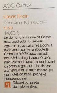 Terre de Vins Cassis Bodin Rosé Chateau Fontblanche 2016