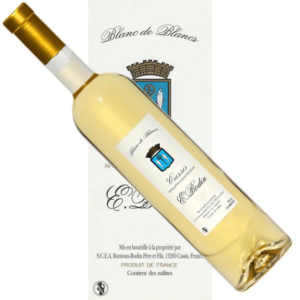Vin Cassis blanc de blancs Emile Bodin étiquette traditionnelle