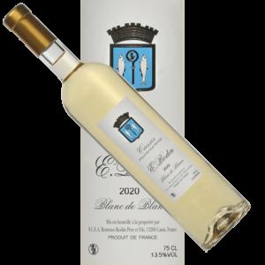 Blanc-blanc-Emile-Bodin-trad-vin-Cassis-Bodin-2020 étiquette