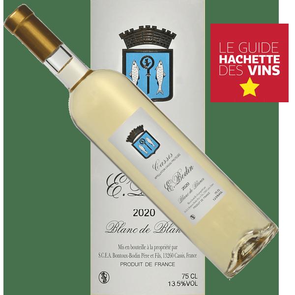 Blanc-blanc-Emile-Bodin-trad-vin-Cassis-Bodin-2020-etoile-guide hachette étiquette